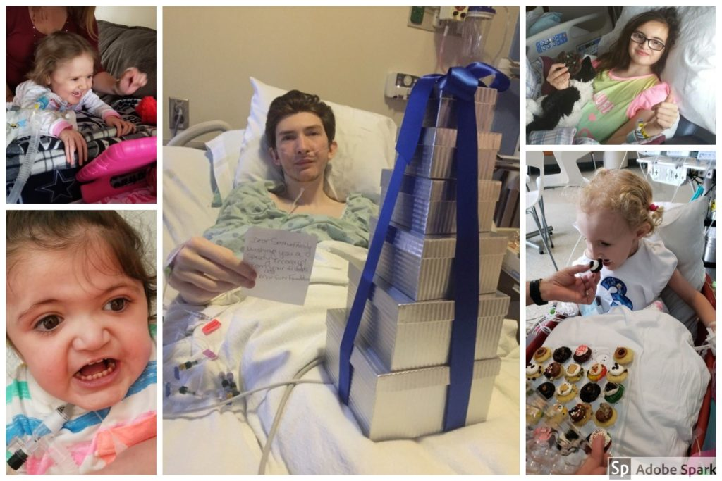 photo collage of children in hospital