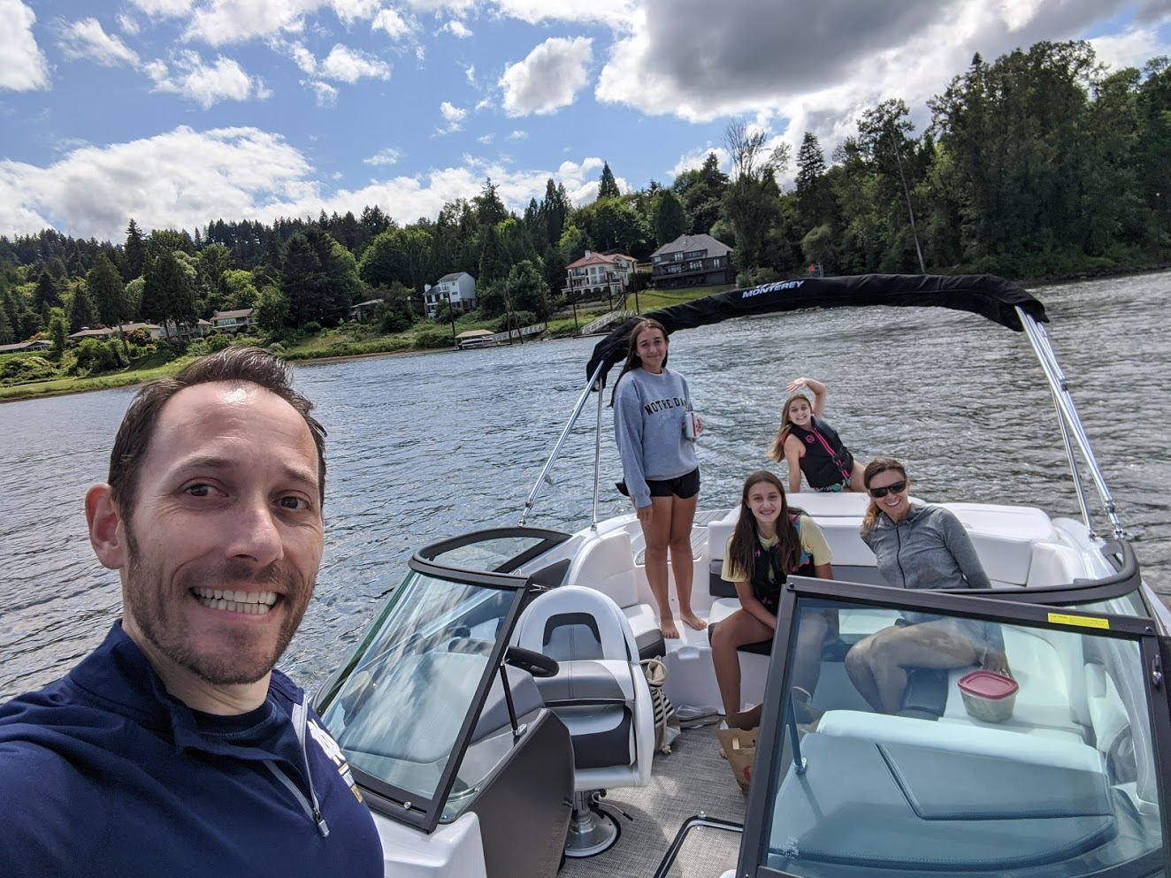 Dominick Corso and his family enjoying a day on the boat. Dominick has VEDS and shared his story of a successful emergency outcome with The VEDS Movement
